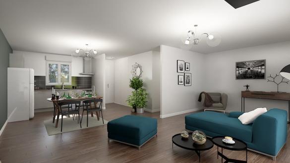 Maison+Terrain à vendre .(75 m²)(RIBECOURT DRESLINCOURT) avec (RESIDENCES PICARDES BDL)