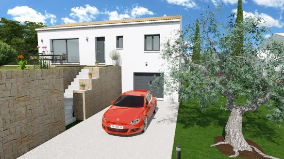Maison+Terrain à vendre .(89 m²)(TRANS EN PROVENCE) avec (LES MAISONS DU MIDI)