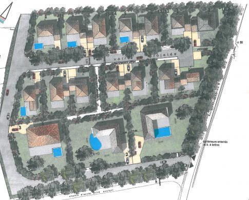Terrain à vendre .(346 m²)(LA MOTTE D'AIGUES) avec (LES MAISONS DU MIDI)