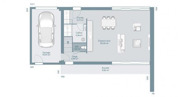 Maison+Terrain à vendre .(100 m²)(VILLEMUR SUR TARN) avec (MAISONS FRANCE CONFORT)