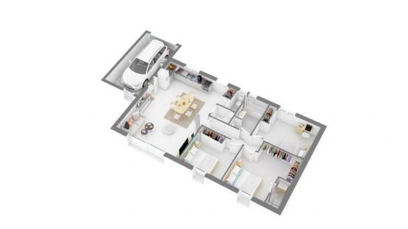 Maison+Terrain à vendre .(95 m²)(BRUGUIERES) avec (MAISONS FRANCE CONFORT)