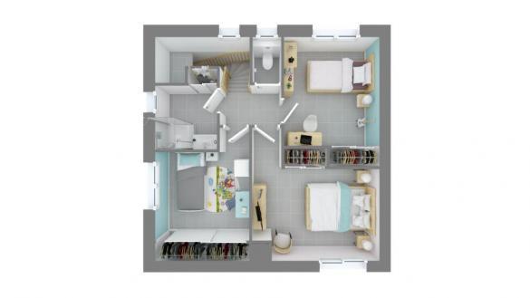 Maison+Terrain à vendre .(110 m²)(L'UNION) avec (MAISONS FRANCE CONFORT)