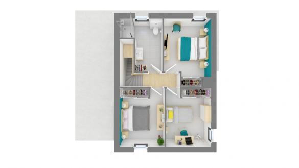 Maison+Terrain à vendre .(90 m²)(BRUGUIERES) avec (MAISONS FRANCE CONFORT)