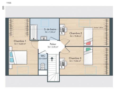 Maison+Terrain à vendre .(115 m²)(REMECOURT) avec (MAISONS FRANCE CONFORT)