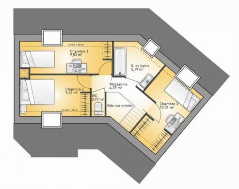 Maison+Terrain à vendre .(117 m²)(BADEVEL) avec (MAISONS FRANCE CONFORT)
