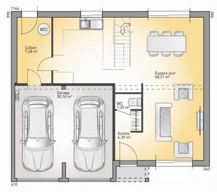 Maison+Terrain à vendre .(116 m²)(BADEVEL) avec (MAISONS FRANCE CONFORT)