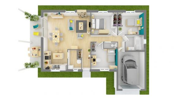 Maison+Terrain à vendre .(90 m²)(BREZINS) avec (MAISONS FRANCE CONFORT)
