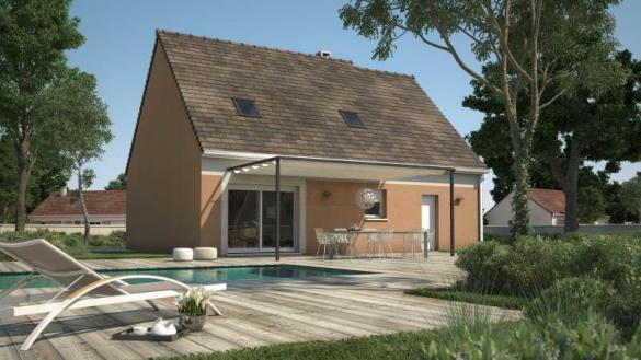 Maison+Terrain à vendre .(89 m²)(LIMETZ VILLEZ) avec (MAISONS FRANCE CONFORT)