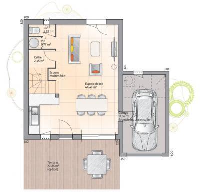Maison+Terrain à vendre .(92 m²)(TOURRETTES) avec (MAISONS FRANCE CONFORT)