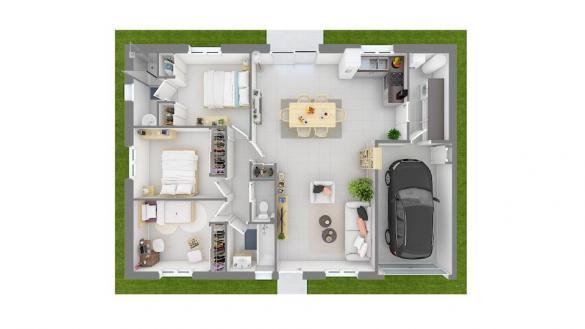 Maison+Terrain à vendre .(84 m²)(BOEN) avec (MAISONS FRANCE CONFORT)