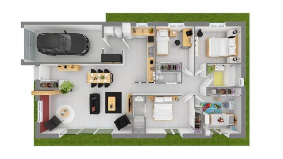Maison+Terrain à vendre .(110 m²)(BOEN) avec (MAISONS FRANCE CONFORT)