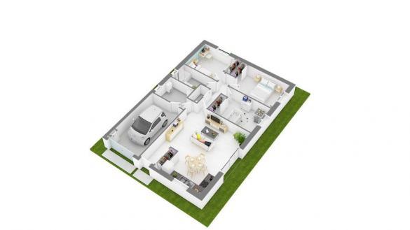 Maison+Terrain à vendre .(80 m²)(SAINT ROMAIN LE PUY) avec (MAISONS FRANCE CONFORT)