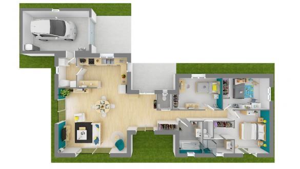 Maison+Terrain à vendre .(120 m²)(LA CHAPELLE DE GUINCHAY) avec (MAISONS FRANCE CONFORT)
