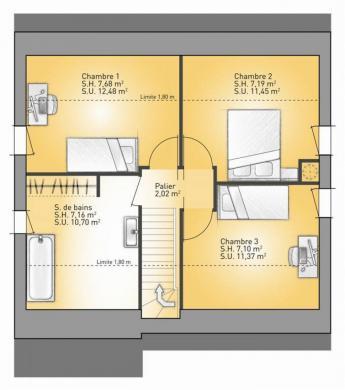 Maison+Terrain à vendre .(73 m²)(CANTIN) avec (MAISONS FRANCE CONFORT)