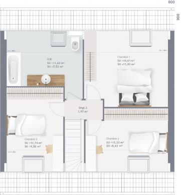Maison+Terrain à vendre .(90 m²)(FECHAIN) avec (MAISONS FRANCE CONFORT)