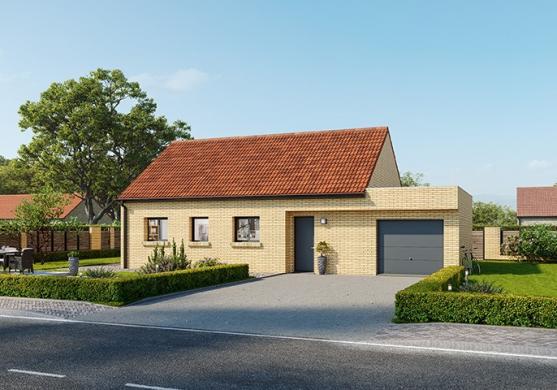 Maison+Terrain à vendre .(70 m²)(OSTRICOURT) avec (MAISONS FRANCE CONFORT)