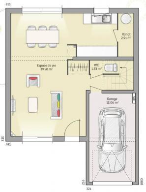 Maison+Terrain à vendre .(93 m²)(FONTAINE LE BOURG) avec (MAISONS FRANCE CONFORT)