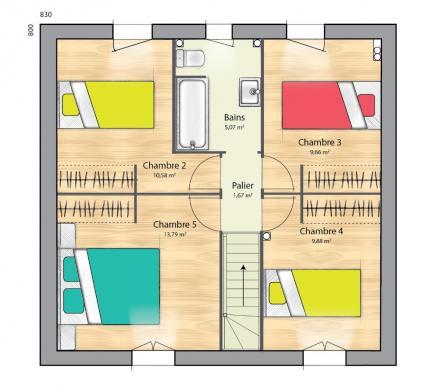 Maison+Terrain à vendre .(102 m²)(BOUQUETOT) avec (MAISONS FRANCE CONFORT)