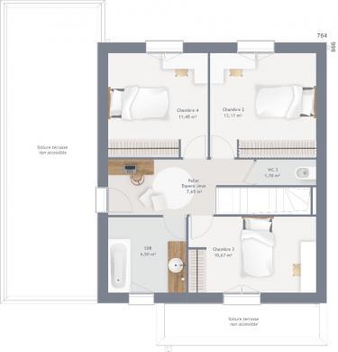 Maison+Terrain à vendre .(120 m²)(LE BOSC ROGER EN ROUMOIS) avec (MAISONS FRANCE CONFORT)