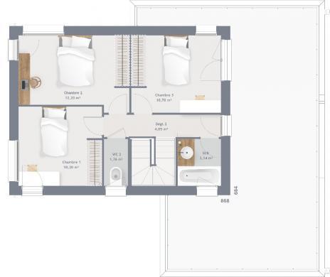 Maison+Terrain à vendre .(115 m²)(LE BOSC ROGER EN ROUMOIS) avec (MAISONS FRANCE CONFORT)