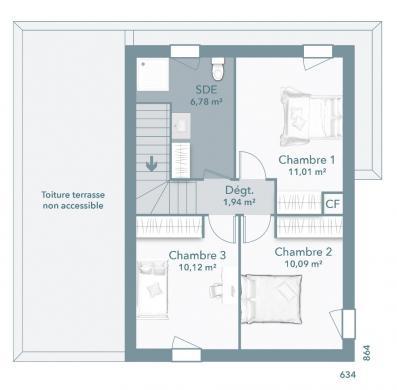 Maison+Terrain à vendre .(90 m²)(CANET) avec (MAISONS FRANCE CONFORT)