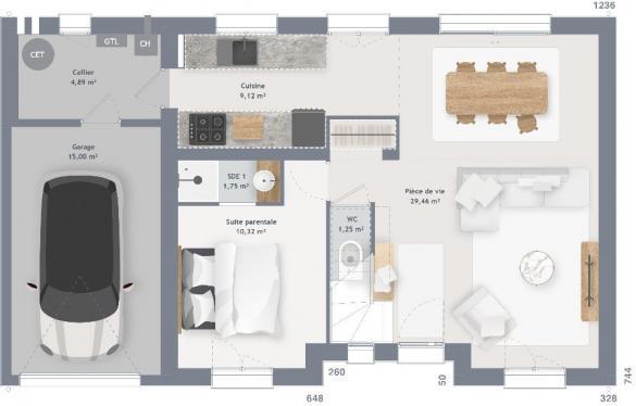 Maison+Terrain à vendre .(105 m²)(GOURNAY SUR MARNE) avec (MAISONS FRANCE CONFORT)