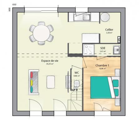Maison+Terrain à vendre .(102 m²)(COUBERT) avec (MAISONS FRANCE CONFORT)