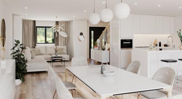 Maison+Terrain à vendre .(140 m²)(SOLERS) avec (MAISONS FRANCE CONFORT)
