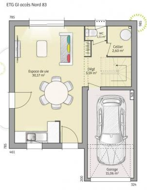 Maison+Terrain à vendre .(83 m²)(LINAS) avec (MAISONS BALENCY)