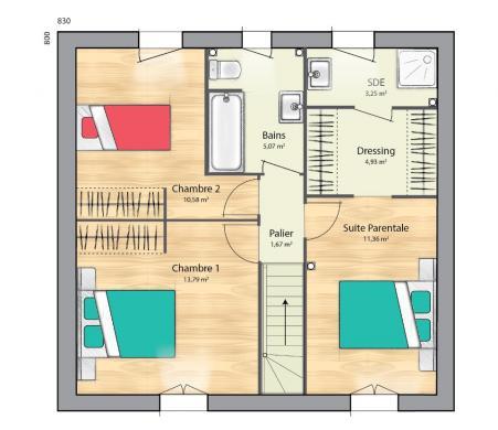 Maison+Terrain à vendre .(89 m²)(MONTGERON) avec (MAISONS BALENCY)