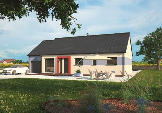 Maison+Terrain à vendre .(100 m²)(CHAPET) avec (MAISONS BALENCY)