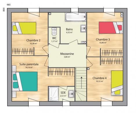 Maison+Terrain à vendre .(124 m²)(BOUAFLE) avec (MAISONS BALENCY)