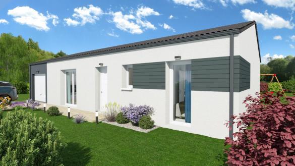 Maison+Terrain à vendre .(92 m²)(GAURIAGUET) avec (MAISONS SANEM)
