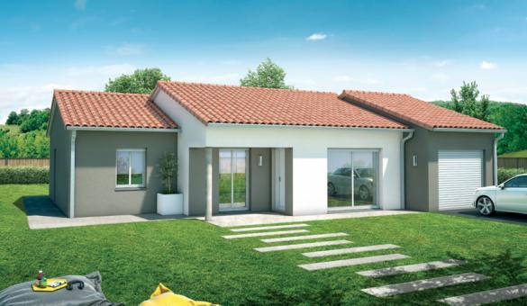 Maison+Terrain à vendre .(93 m²)(SAINT MEDARD D'EYRANS) avec (MAISONS SANEM)