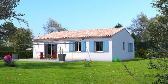 Maison à vendre .(90 m²)(SAINT GILLES) avec (VILLAS INDIVIDUELLES LA PROVENCALE)