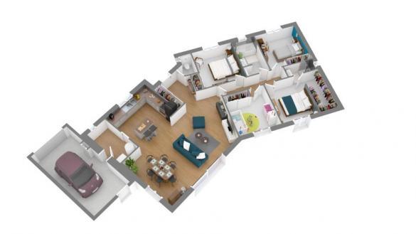 Maison+Terrain à vendre .(112 m²)(SAMATAN) avec (MAISONS FRANCE CONFORT)