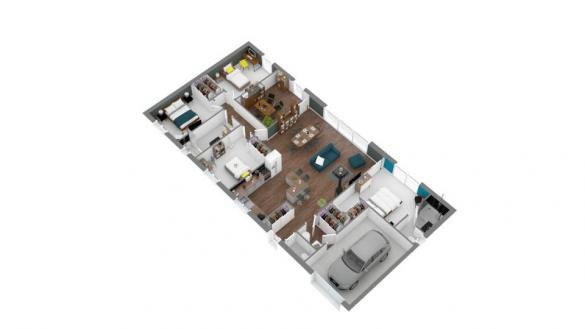 Maison+Terrain à vendre .(125 m²)(ESCORNEBOEUF) avec (MAISONS FRANCE CONFORT)