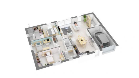 Maison+Terrain à vendre .(90 m²)(SAINT BLANCARD) avec (MAISONS FRANCE CONFORT)