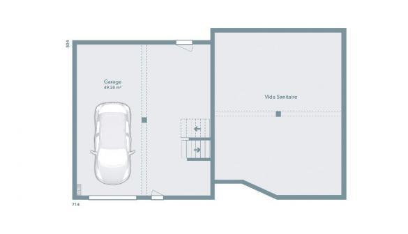 Maison+Terrain à vendre .(90 m²)(GIMONT) avec (MAISONS FRANCE CONFORT)