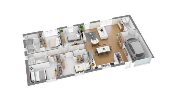 Maison+Terrain à vendre .(113 m²)(MONBLANC) avec (MAISONS FRANCE CONFORT)