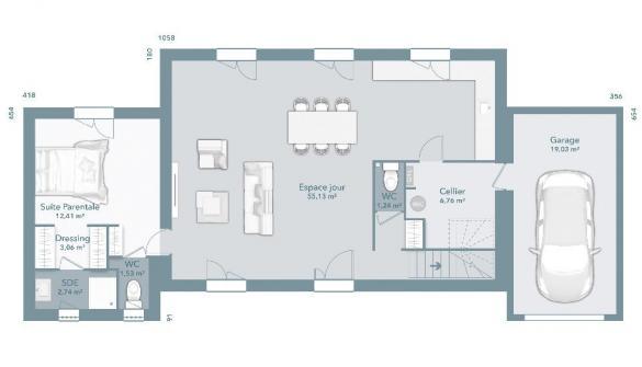 Maison+Terrain à vendre .(145 m²)(MONBLANC) avec (MAISONS FRANCE CONFORT)
