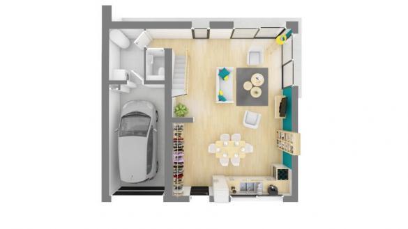 Maison+Terrain à vendre .(90 m²)(BRAX) avec (MAISONS FRANCE CONFORT)
