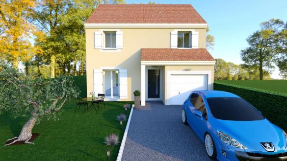 Maison à vendre .(105 m²)(OZOUER LE VOULGIS) avec (LES MAISONS BARBEY MAILLARD)