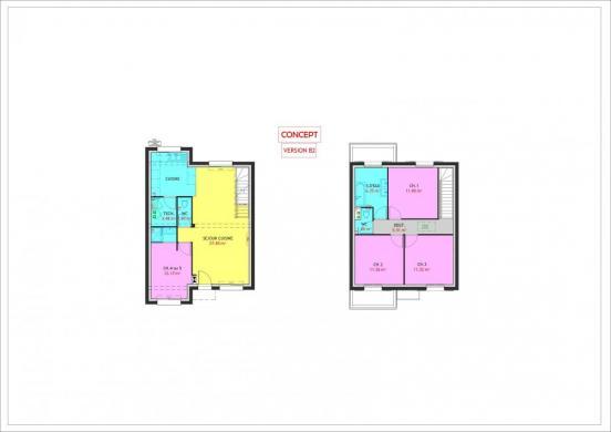 Maison à vendre .(104 m²)(CHOISY LE ROI) avec (MAISONS PIERRE)