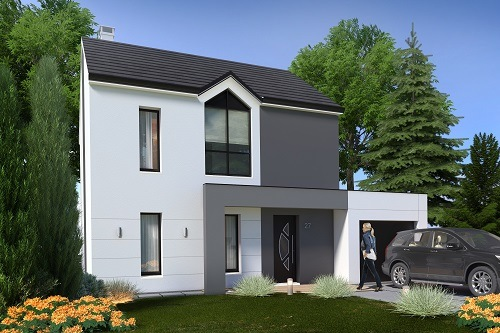 Maison+Terrain à vendre .(87 m²)(MACHAULT) avec (MAISONS.COM)