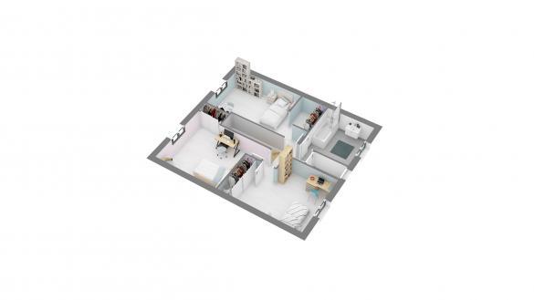 Maison+Terrain à vendre .(105 m²)(EGLY) avec (MAISONS.COM)