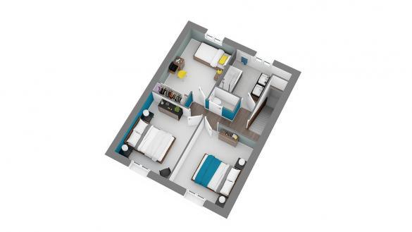 Maison+Terrain à vendre .(87 m²)(SAINT DENIS LES REBAIS) avec (MAISONS.COM)