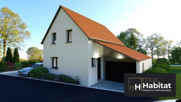 Maison à vendre .(90 m²)(EBERSMUNSTER) avec (MUC HABITAT)