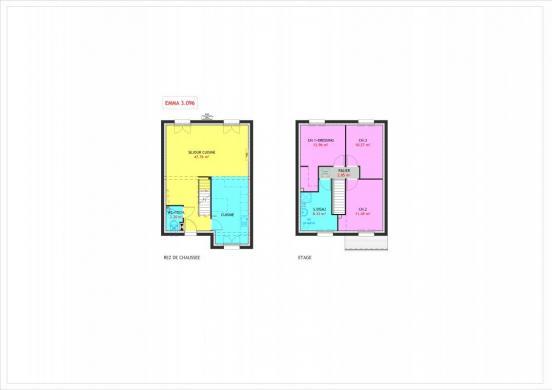 Maison à vendre .(96 m²)(AULNAY SOUS BOIS) avec (MAISONS PIERRE AULNAY 3)