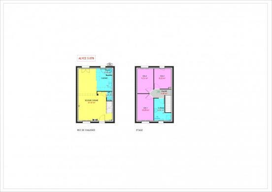 Maison à vendre .(78 m²)(LE PLESSIS BELLEVILLE) avec (MAISONS PIERRE AULNAY 3)